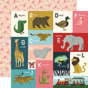 Echo Park Cut-Outs - Animal Safari - A-L Alphabet Cards
