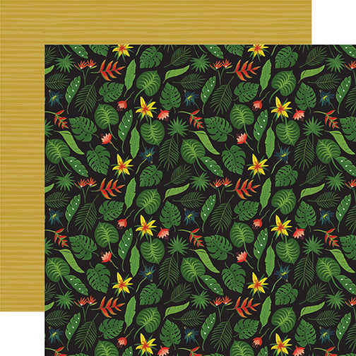 Echo Park Papers - Animal Safari - Tropical Leaves - 2 Sheets