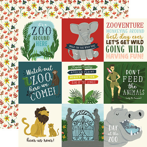 Echo Park Cut-Outs - Animal Safari - 4x4 Journaling Cards