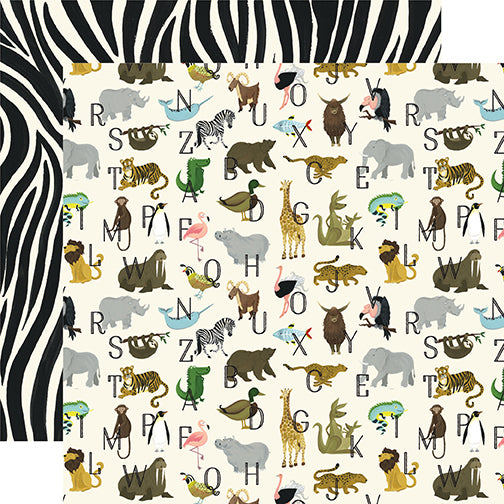 Echo Park Papers - Animal Safari - Zoo Letters - 2 Sheets