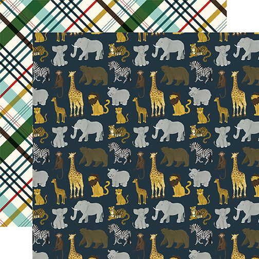 Echo Park Papers - Animal Safari - Safari - 2 Sheets