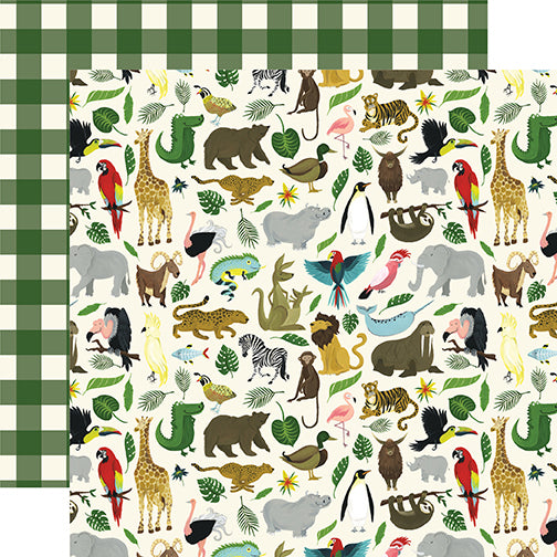 Echo Park Papers - Animal Safari - It's a Zoo - 2 Sheets