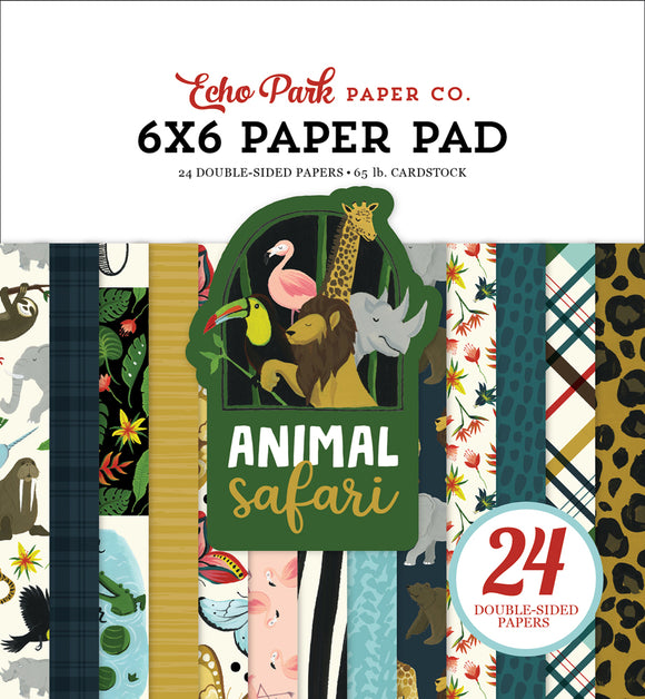 Echo Park 6x6 Pad - Animal Safari