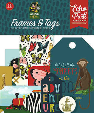 Echo Park Frames & Tags Die-Cuts - Animal Safari