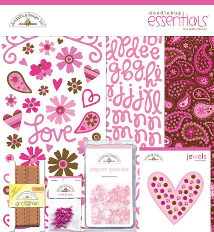 Doodlebug Design Essentials Kit - Love Spell
