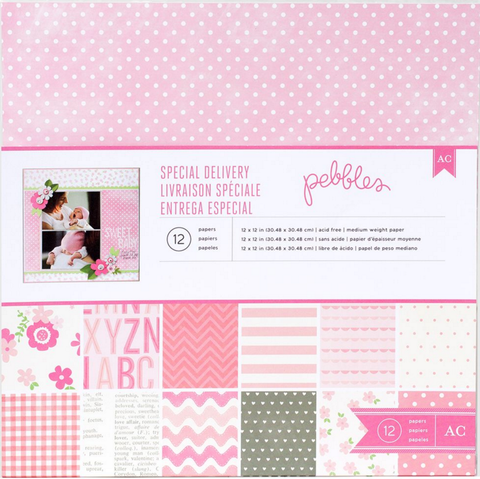 Pebbles Collection Kit - Special Delivery - Baby Girl