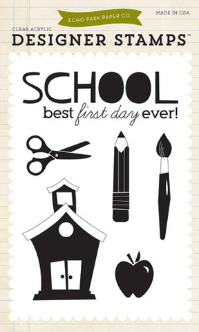 Echo Park Clear Stamp Set - Back to School