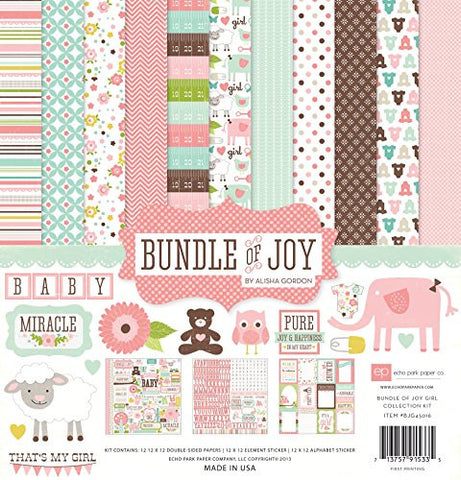 Echo Park Collection Kit - Bundle of Joy - Girl
