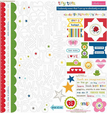 Bella Blvd 12x12 Cardstock Stickers - Tiny Tots - Treasures & Texts