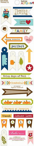 Bella Blvd Trinkets Cardstock Stickers - Hello Autumn