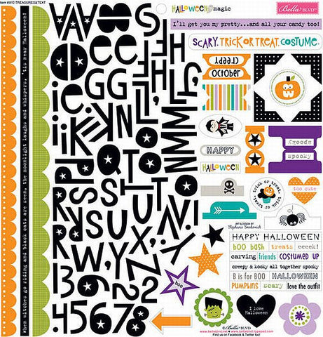 Bella Blvd 12x12 Cardstock Stickers - Halloween Magic - Treasures & Texts