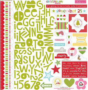 Bella Blvd 12x12 Cardstock Stickers - Christmas Cheer - Treasures & Texts