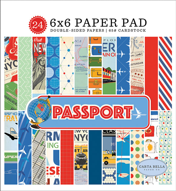 Carta Bella 6x6 Pad - Passport