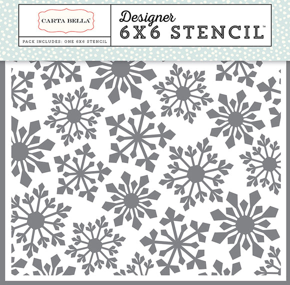 Carta Bella 6x6 Stencil - Snow Fun - Pointed Snowflake