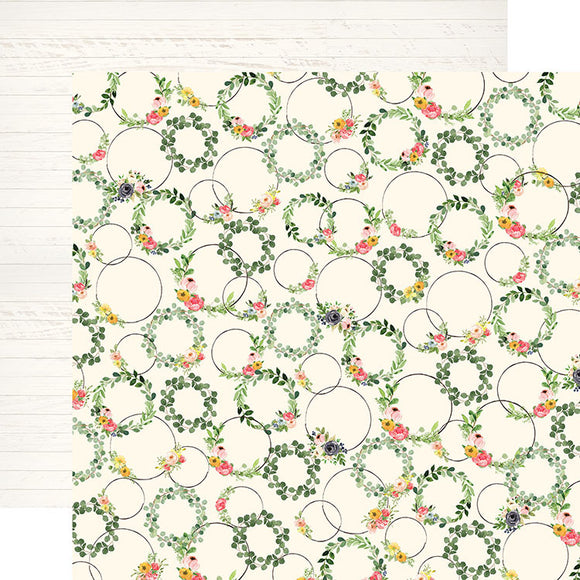 Carta Bella Papers - Spring Market - Wreath Decor - 2 Sheets