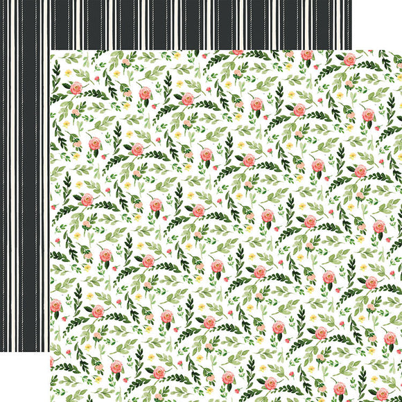 Carta Bella Papers - Spring Market - Farm Floral - 2 Sheets