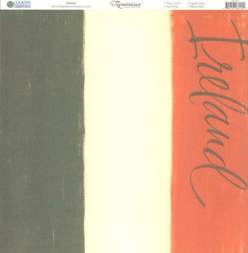 Reminisce Papers - Country Cardstock - Ireland - 2 Sheets