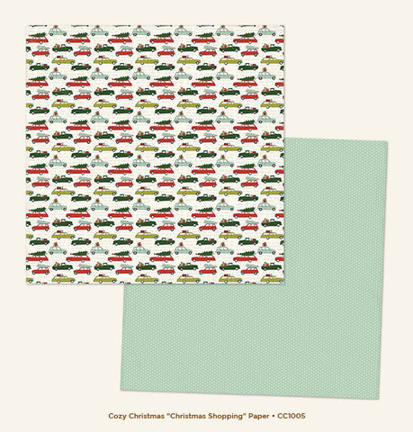 My Mind's Eye Paper - Cozy Christmas - Christmas Shopping - 2 Sheets