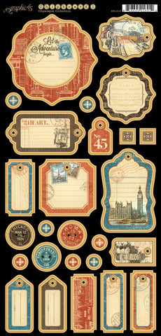 Graphic 45 Chipboard - Cityscapes (A)