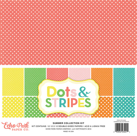 Echo Park Collection Kit - Dots & Stripes - Summer 2016