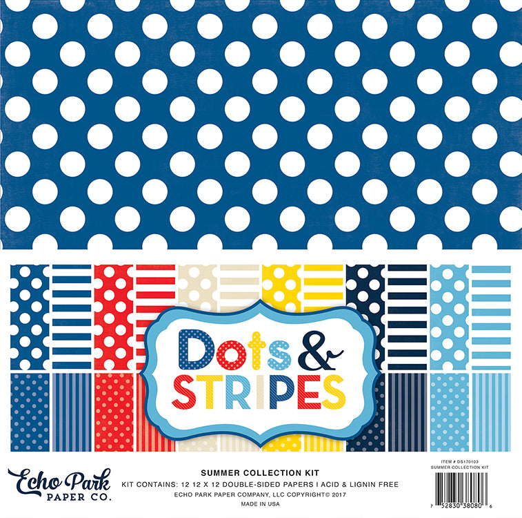Echo Park Collection Kit - Dots & Stripes - Summer 2017