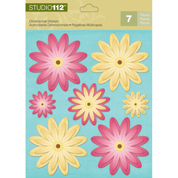 K&Company Studio 112 Dimensional Stickers - Floral
