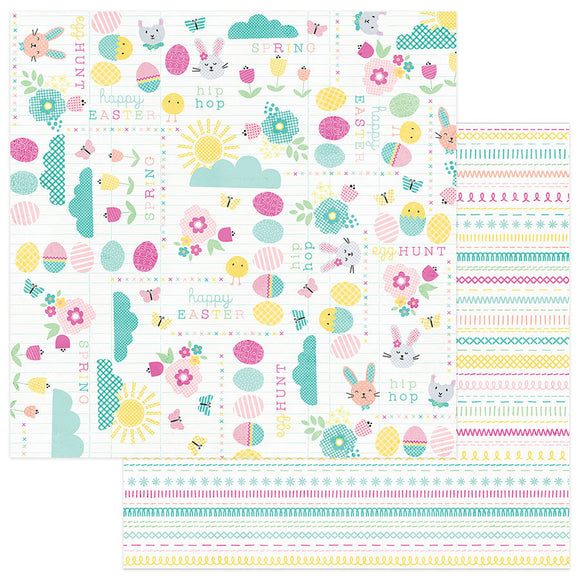 Photo Play Papers - Easter Blessings - Happy Easter - 2 Sheets