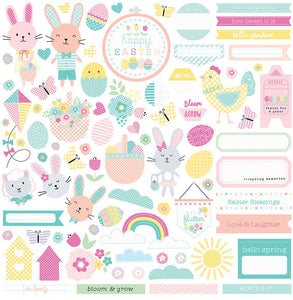 Photo Play 12x12 Cardstock Stickers - Easter Blessings - Elements