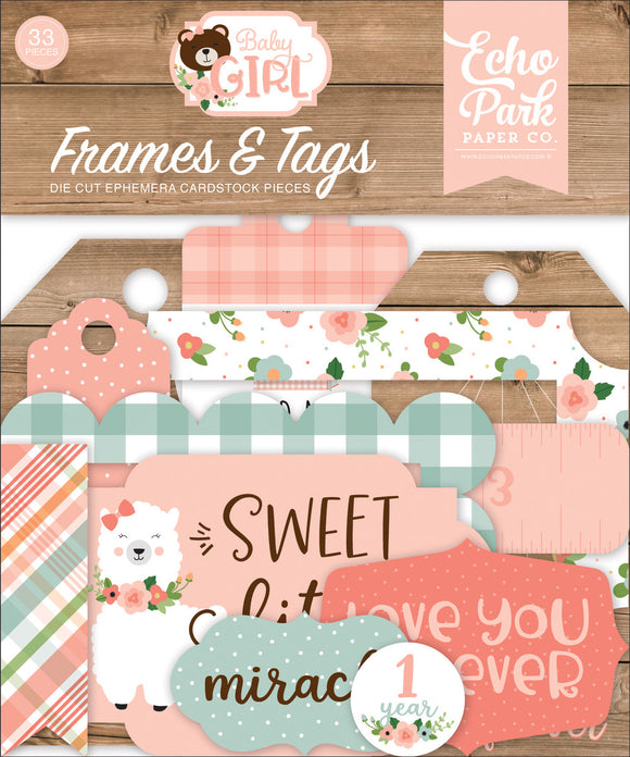 Echo Park Frames & Tags Die-Cuts - Baby Girl
