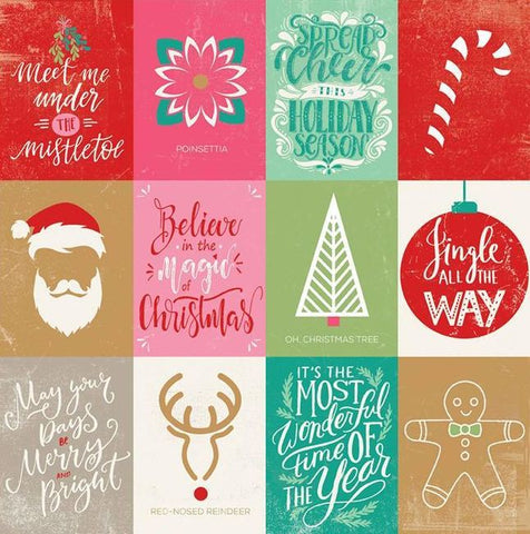 Authentique Cut-Outs - Colorful Christmas - Enhancements