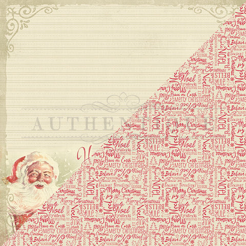 Authentique Papers - Vintage Christmas - Eight - 2 Sheets