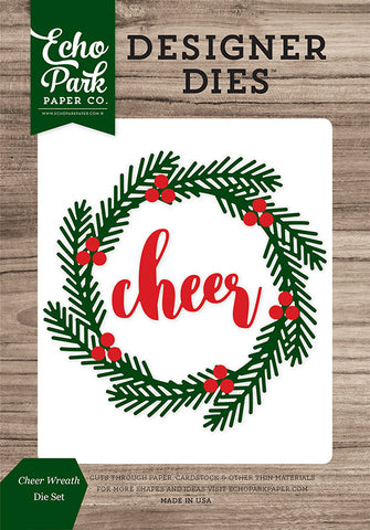 Echo Park Designer Dies - Christmas Cheer - Cheer Wreath Set
