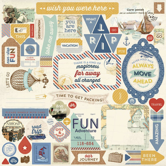 Authentique 12x12 Cardstock Stickers - Explore