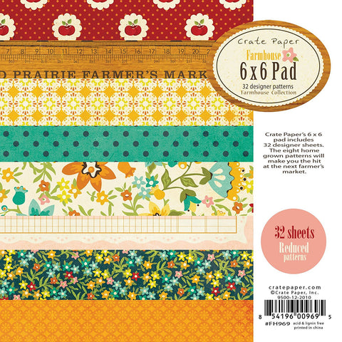 Crate Paper 6x6 Paper Pad - Farmhouse