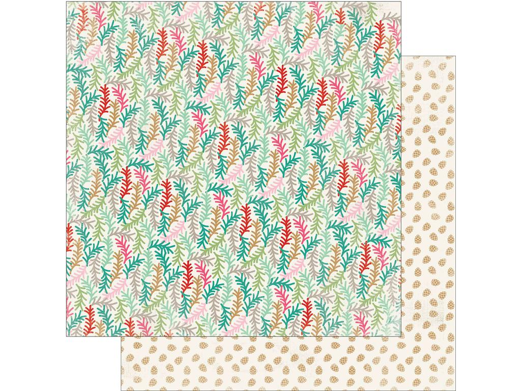 Authentique Papers - Colorful Christmas - Five - 2 Sheets