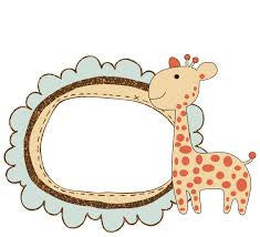 Fancy Pants Glitter Cut - Giraffe Frame