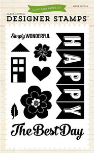 Echo Park Clear Stamp Set - Happy Family