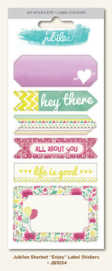 My Mind's Eye Cardstock Stickers - Jubilee - Sherbet - Enjoy