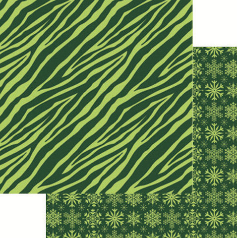 Reminisce Papers - Jungle All the Way - Zebra Green - 2 Sheets