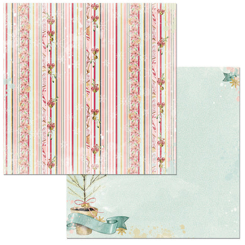 Bo Bunny Papers - Carousel Christmas - Jubilee - 2 Sheets