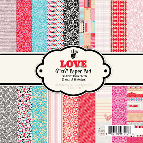 Fancy Pants 6x6 Paper Pad - Love Story