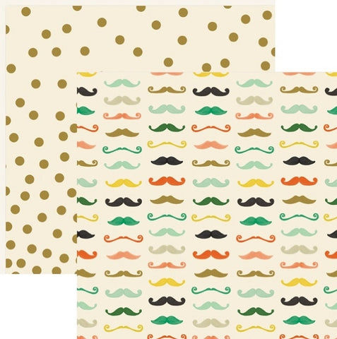 My Mind's Eye Paper - Market Street - Nob Hill - Stache - 2 Sheets
