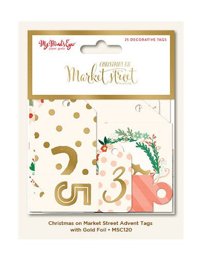 My Mind's Eye Die-Cuts - Decorative Tags - Christmas on Market Street