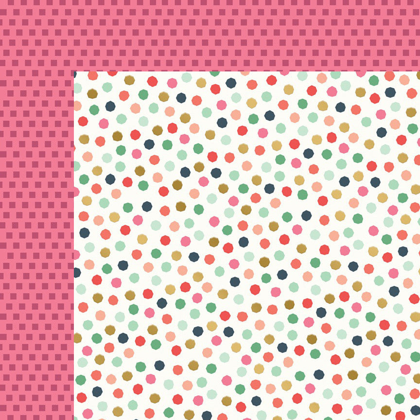 My Mind's Eye Paper - On Trend 2 - Graphic - Foil - 2 Sheets