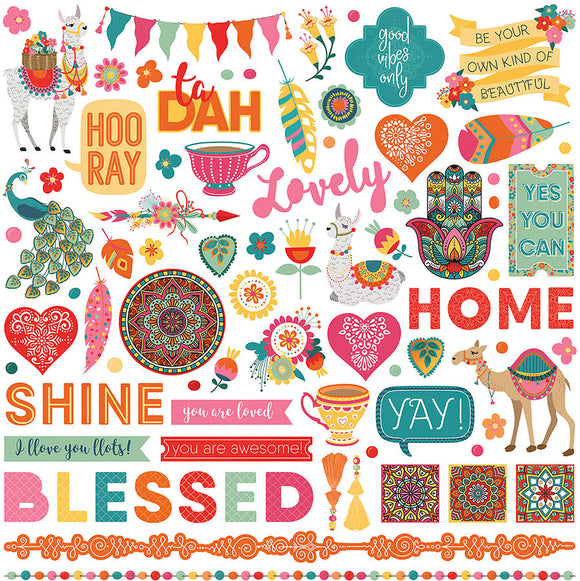 Photo Play 12x12 Cardstock Stickers - Paprika - Elements