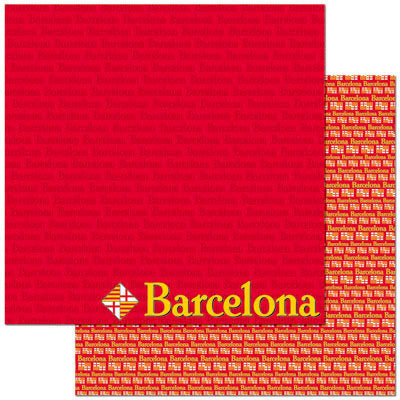 Reminisce Papers - Passports - Barcelona - 2 Sheets
