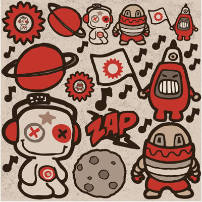 Reminisce 12x12 Cardstock Stickers - Retrobot - Icon