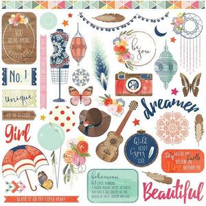 Photo Play 12x12 Cardstock Stickers - Rhapsody - Elements