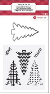 Hampton Art Stamp & Die Set - Christmas Trees