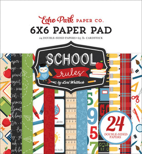 Echo Park 6x6 Pad - School Rules